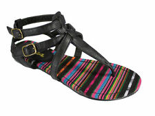 Women's Multi-Coloured Block Heel Sandals and Beach Shoes