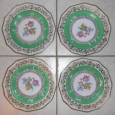 Schumann Porcelain Bavaria Pottery 12-Sided Gold Floral