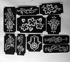 bm2017 set henna designs GLITTERTATTOO 10 different stencils glitter tattoo