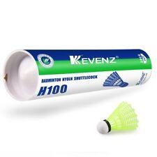 12-Pack Kevenz  Nylon Feather Shuttlecocks,77 Grains-High Speed Badminton Yellow