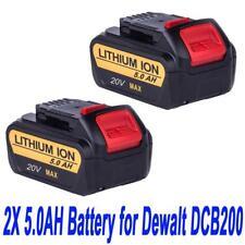 2X 18V 5.0AH Li-ion Battery For Dewalt DCD740B DCB180 181 DCB200 with Fuel Guage