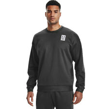Under Armour Mens Recover Long Sleeve Crew Grey Sports Running Breathable