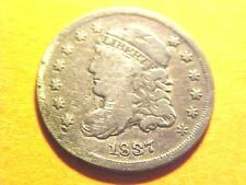 US Coins Lg 5C 1837 VG+ Capped Bust 90% Silver Half Dime 180 Years Old H471