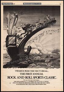 ROCK 'N' ROLL SPORTS CLASSIC__Original 1978 Trade AD / poster__JACQUI MORGAN art