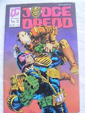 JUDGE DREDD Comic - No 12 - Quality Comics - 2000AD