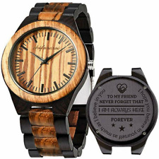 Engraved Wooden Watches, Personalized Wood Watch for Anniversary Birthday lover