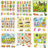 Educational Digital Learning Wooden Puzzle Hand Grab Board Jigsaw Baby Toys