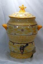 Temptations 2012 Old World Yellow Double Handled Samovar With Lid 1.5 Gallon