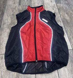 Pearl Izumi Men's Sz medium Vest Full Zip Red Black Cycling