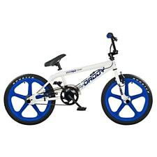 """Rooster Big Daddy Kids 20"""" Skyway Mag Wheels BMX Bike Cycle Gyro White Blue RS32"""