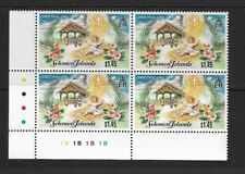 1995 Solomon Islands - Christmas Issue - Plate Block - Unhinged Mint..