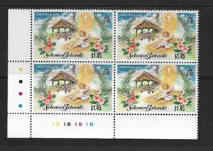 1995 Solomon Islands - Christmas Issue - Corner Block - Unhinged Mint..