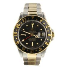 Rolex GMT Master Two Tone Steel and 18K Gold 40 mm Automatic Watch 1675