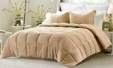 Soft Comforter Down Alternative 200 GSM Cal King Size Taupe Striped