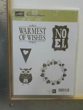 STAMPIN UP HOSTESS WARMEST OF WISHES OWL CLING MOUNT STAMP SET EUC A19138