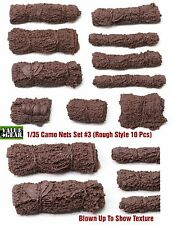 "1/35 Universal Camo Nets Set #3 ""Rough Style"" Value Gear 10pcs Resin"
