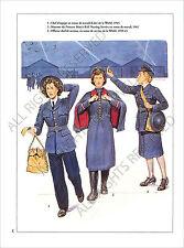 PLANCHE UNIFORMS PRINT WWII  Women's Auxiliary  WAAF RAF NURSING SERVICE
