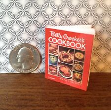 """1:6 scale handmade mini for 11""""-12"""" dolls - Betty Crocker cookbook w/real pages"""