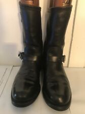 CHIPPEWA Engineer Black Leather Buckled Motorcycle Boot USA 97863 Size 12D