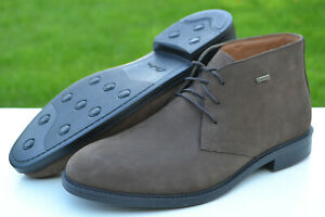 Clarks BNIB Mens Chukka Boots CHILVER HI GTX Dark Brown Nubuck UK 9 /43 RRP £110