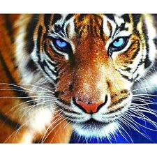New Full Drill Tiger 5D Diamond DIY Painting Craft Kit Home Wall Hanging Decor