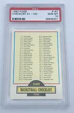 1990 Fleer Basketball Michael Jordan Checklist 1-100 #197 PSA 10 GEM MINT (B)