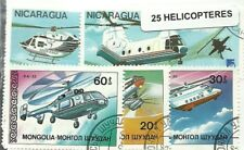 """Lot 25 timbres thematique """" Helicopteres"""""""