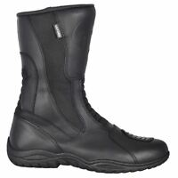 Oxford Cherokee Waterproof Motorcycle Motorbike Leather Touring Boots Black