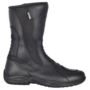 Oxford Cherokee Waterproof Motorcycle Motorbike Leather Touring Boots Black