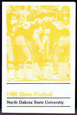 1980 NORTH DAKOTA STATE BISON FOOTBALL BASKETBALL POCKET SCHEDULE FREE SHIPPING