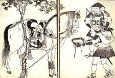 Ashigaru Riego un caballo Samurai Japón 7x5 Pulgadas impresión