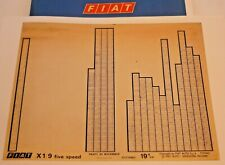 LANCIA β BETA Berlina 7.A ca 1983 original Ersatzteil Katalog ETK Microfiche