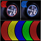 7 Color Reflective 16 Strrips Motorcycle Car Rim Stripe Wheel Decal Tape Sticker