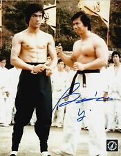 Bolo Yeung Autographed Enter The Dragon w/ Bruce Lee 8x10 Photo ASI Proof