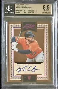 2016 Panini Prime cuts Tyler White AUTO #'d 1/5 BGS 8.5 Astros Dodgers Bluejays
