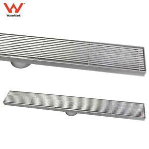 316 SUS 600mm Linear Strip Fence Floor Drain Shower Grate 50mm Outlet Waste