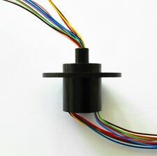 300Rpm Capsule Slip Ring 12 Circuits Wires 22mm 2A AC240V Test Equipment