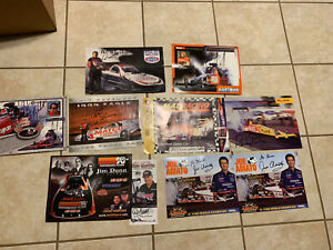 NHRA AUTOGRAPHED 8X10 HANDOUT PHOTO CARD Lot Of 10 Garlits Amato Pedregon