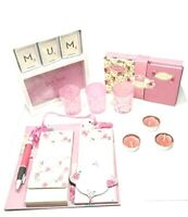 Mothers Day Gift Set Rose 6PC Candle,Frame,Notepad with Pen, Address Book Gift