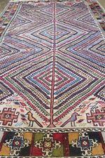 Antique Handmade Caucasian Kleam Wool Rug 4.6x6.8 Ft