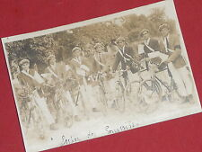 ancienne carte postale photo vélo conscrits cyclistes Vesoul 1922 ? cpa