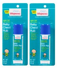 2 PACK - Walgreens Baby Chest Rub Stick - 0.5 oz.