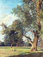 PAINTING LANDSCAPE WALDMUELLER PRATER SEATED FIGURES ART PRINT POSTER LAH090