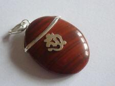 cristalloterapia PENDENTE CIONDOLO talismano OHM DIASPRO ROSSO amuleto buddha A+