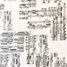CHE018 Sheet Music Band Symphony Notes Orchestra Piano Cotton Quilt Fabric