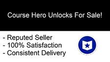 Course Hero Account w/ 20 Unlocks - INSTANT DELIVERY - 24/7