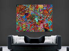 Póster de pared gigante de imagen Psicodélico Trippy Arte Imagen Impresión Gigante Enorme Grande