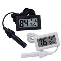 Numérique LCD Thermomètre Hygromètre Température Hygromètre Horloge avec sonde
