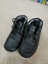 UGG Lyle Leather Sheepskin UGG 1003430 Black Genuine Slipper