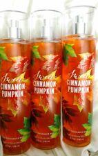 3 BATH AND BODY WORKS SWEET CINNAMON PUMPKIN Fragrance Mist Splash Spray